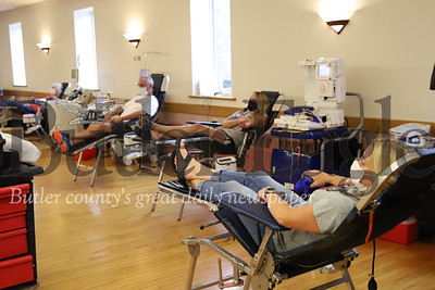 Vitalant blood donation drive at Herman fire department Saturday. Blood drive and fundraiser for Cheyenne Widenhofer, 13. Seb Foltz/Butler Eagle 07/11/20