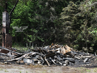 Harold Aughton/Butler Eagle: 447 Hooker Road, Concord Twp, fire destroys abandoned house. Requested by Jim Smith. July 15, 2020.