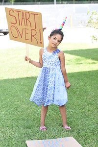 Pictured is Aubree Heilman, 5, of Valencia, who was brought to a rally at the Butler Barracks of the state police on July 17, 2020,  by her grandmother, Michelle Bender, co-founder of We Can Bring You Hope. Bender and her organization helped organized the rally to draw attention to the unsolved deaths of Scott Fosnaught and his friend Shawn Baur. The two died in a mysterious accident in 2002 along Cashdollar Road in Forward Township.Photo by Lauryn Halahurich