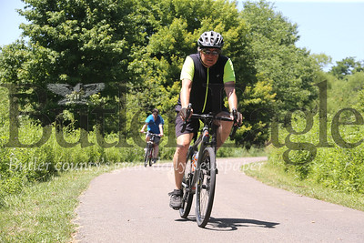 Bikers ride the paved trail on Moraine State Park's North Shore. Seb Foltz/Butler Eagle