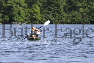 A kayaker paddles on Lake Arthur at Morraine State Park earlier this month. Seb Foltz/Butler Eagle 07/15/20
