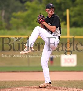 Cranberry starting pitcher #22. Cranberry v Freeport at Graham Park 07/23/20 Seb Foltz/Butler Eagle
