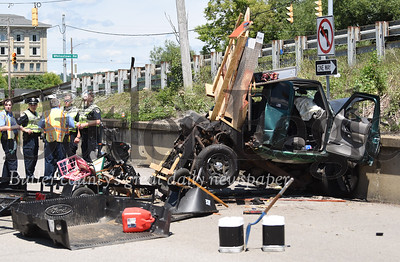 0131 -- A man was killed Saturday afternoon in Lyndora after the car he was a passenger in crashed into a concrete wall. The driver was severely injured.