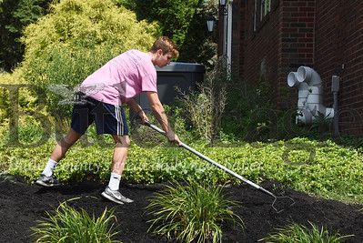 Harold Aughton/Butler Eagle: Nathan Glassic of Penn Twp. and a rising 11th grader at Knoch volunteered to help spruce up Penn Christian Academy with fellow alums Monday, July 27, 2020.