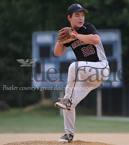 Cranberry relief pitcher Matt Lewis #26. Seb Foltz/Butler Eagle