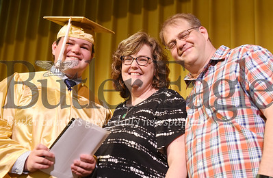 Harold Aughton/Butler Eagle: Nathan Szurek received his degree from his parents, Mike and Amanda Szurek. Nathan will be attending Penn State Behrend majoring in mechanical engineering.