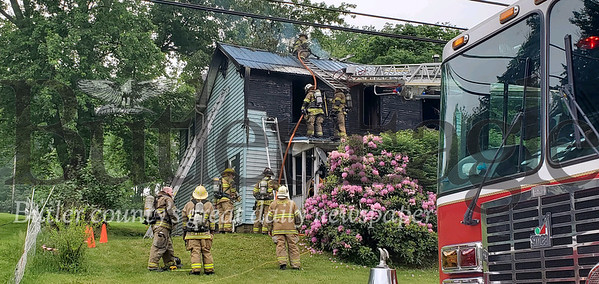 Fire crews respond to a two-story house fire at 427 Oneida Valley Road on FRIDAY June 5, 2020. The fire closed Oneida Valley Road for about 3 hours. No people were injured but an unknown amount of pets died in the blaze.Crews responding include East Butler, Prospect ,  Slippery Rock,Chicora, West Sunbury, Lick Hill, Oneida Valley and unionville Photo by Nathan Bottiger/Butler Eagle
