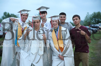 Left to right: Zach Caldwell, Walker Allison, Jack Allen, Ian Balquist, Shane Thompson and Zak Thompson.  Seb Foltz/Butler Eagle