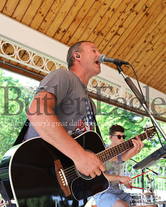 Ron George and The Wrangler Band kick off Butler County Parks and Recreation's free concert series at Alemeda Park Tuesday evening. Seb Foltz/Butler Eagle