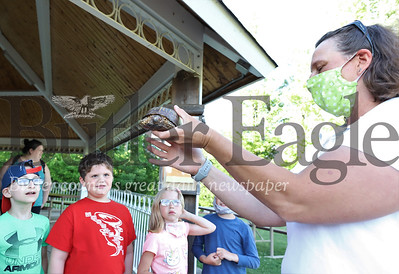 April Claus of Interactive Environmental Programs kicksoff Butler County Parks and Recreation's Outdoor Discovery Series Thursday evening with a presentation on reptiles. Seb Foltz/Butler Eagle