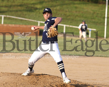 Saxonburg pitcher Guy DeLeonardis (13) vs Freeport 06/25/20 Seb Foltz/Butler Eagle