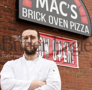 Harold Aughton/Butler Eagle: Chef Spencer McKivigan, Mac's Brick Oven Pizza