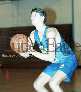 The ball will be in the hands of Butler's Shawn Bellis this season as the lone returning starter. December 9, 1993 - photo by Jack Neely.