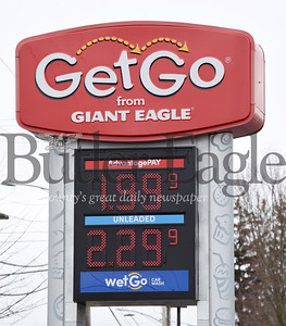 Harold Aughton/Butler Eagle: Gas prices are dropping across the country.