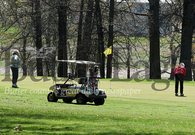 Harold Aughton/Butler Eagle: Saxony Golf course in Saxonburg was booked solid with no tee times available between 7:00 a.m. to 6 p.m. Saturday, May 2, 2020.