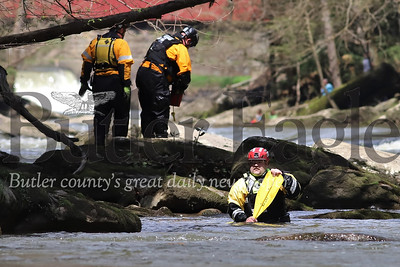 Search and rescue incident command setup at Cheeseman Farm near Eckert Bridge and McConnells Mill Sunday. Seb Foltz/Butler Eagle