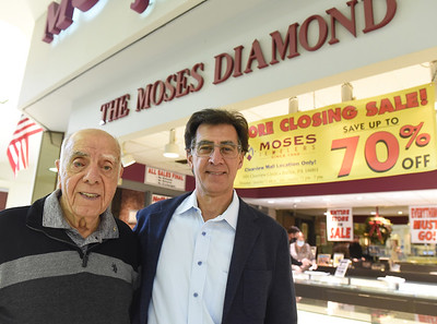Merrill and Tim Moses...owners of Moses Jewelers...missing from photo Larry Moses Harold Aughton/Butler Eagle