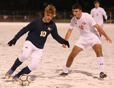 Mars' Eli Wright (10 left) (Scored second goal) Cathedral Prep's Dominic Padalino (10 right) Seb Foltz/Butler Eagle 11/17/20