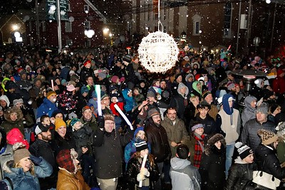 The ball drops to celebrate German New Years in Harmony Tuesday. Seb Foltz/Butler Eagle   Harmony New Year 2019