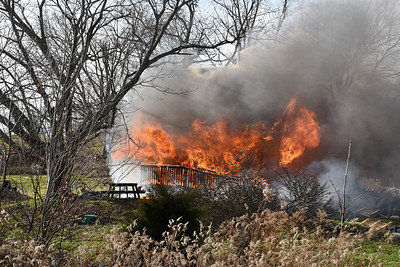 House fire on Rockdale Road in Jefferson Twp. Thursday, Nov. 19, 2020 Harold Aughton/Butler Eagle