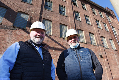 Jake, left, and Kris Bamberger owners of CERTA recently purchased the former AK Steel Stainless Steel Procesing facilty and the Bantham Jeep building.... Harold Aughton/Butler Eagle