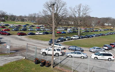 The Pittsburgh Food Bank distributed more than 600 shares of food at the Lernerville Speedway Tuesday morning November 24, 2020. Harold Aughton/Butler Eagle.