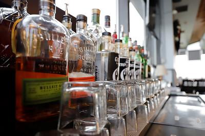 Liquor bottles at Serventi's on Airport Road. Seb Foltz/Butler Eagle 11/24/20
