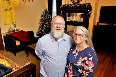 Tom Swisher and Cynthia Neff opened their Victorian-style home to Freeport High School's filming of It's a Wonderful Life. Seb Foltz/Butler Eagle