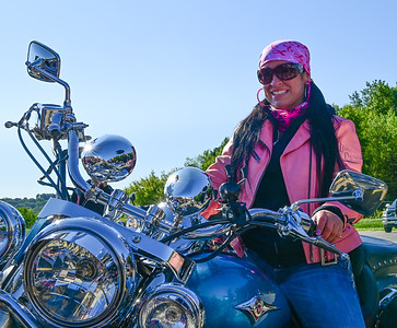 Jamies Fout prepares to join the Ride for a Cure at the  Family Bowlaway in Butler on Saturday September 19,2020 (Jason Swanson photo)