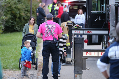 Police and fire officials from Butler Township host a National Night Out  community event on Holland Drive. Seb Foltz/Butler Eagle 10/6/20