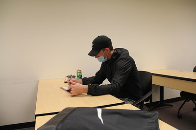 Joseph Francic attends an empowerment class on Friday at Butler County Community College. Photos by Eric Jankiewicz