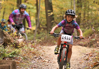 Josiah Bower races in the kids 10 and under class during Sunday's Month of Mud mountain bike race at Alemeda Park. Seb Foltz/Butler Eagle 10/11/20