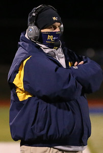 Mars head football coach Scott Heinauer. Seb Foltz/Butler Eagle 10/26/20
