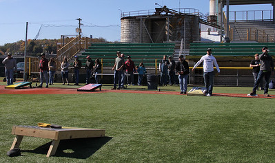 0652: Dozens of men gathered Saturday at Pullman Park for some cornhole fun. Photo by Eric Jankiewicz.