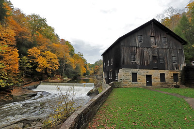 Fall foliage at McConnells Mill Wednesday. Leaves are expected to peak this week in Butler County. Seb Foltz/Butler Eagle 10/21/20