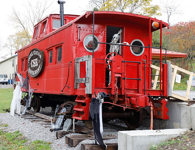 New caboose along the Butler Freeport Trail in Cabot. Seb Foltz/Butler Eagle 10/24/20