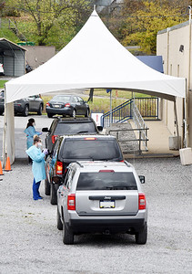 The Butler Health System relocated its COVID testing site from Brady Street to its new location at 304 Delwood Road, Butler. Harold Aughton/Butler Eagle.