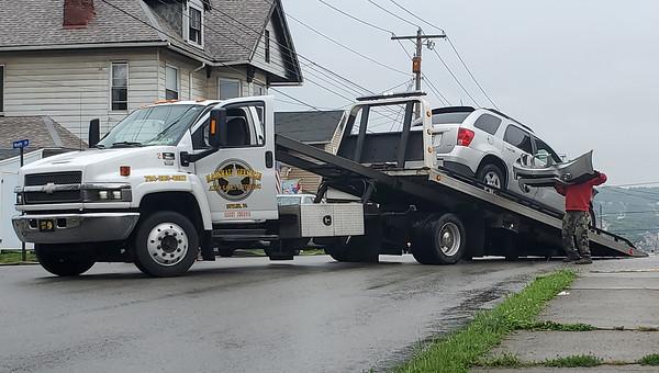 A two-car crash Thursday on South Monroe Street sent three people to the hospital. Nathan Bottiger/Butler Eagle