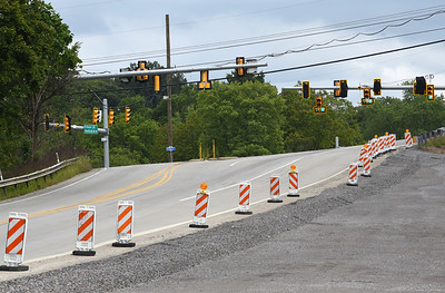 Harold Aughton/Butler Eagle: Traffic lights at the intersection of route 228 and route 8 at Middlesex Crossing.