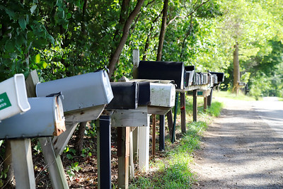 Mailboxes for the Woodlands properties line Prospect Rd. outside of the unmaintained network of roads that make up the Woodlands. Properties in the area have remained largely undeveloped and lack access to drinking water. Seb Foltz/Butler Eagle  (Sept. 2020)