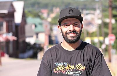 Butler Hip Hop Community founder Everett B. Roy, 33, of Saxonburg Seb Foltz/Butler Eagle Sept. 5 2020