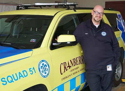 Photo by J.W. Johnson Jr. Ted Fessides has been named as the new chief of Cranberry Township EMS.