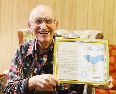 """Harold Aughton/Butler Eagle: Robert """"Pete"""" Watson, who was sheriff for 16 years and district magistrate turns 95 on Sept. 21."""