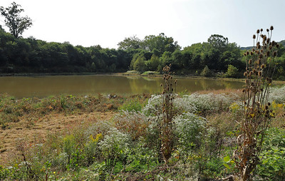 The currently unused old reservoir in Zelienople will become Reservoir Park and be linked to the area's trail network along Connoquenessing Creek. Seb Foltz/Butler Eagle 09/25/20