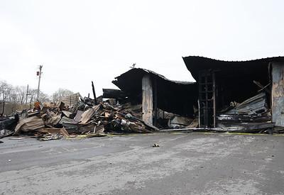 Hunter Truck Center fire damage to garage. Seb Foltz/Butler Eagle (04/07/21 post fire)