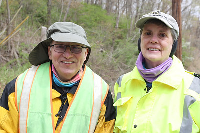 Rick, 70, and Valerie Alexander, 67,  annually have a litter pickup day along the stretch of Litman Road by their residence. Seb Foltz/Butler Eagle 04/22/21