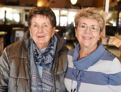 From left, Dolly Bertuzzi and Linda Cunningham, Nurses Alumni Association Harold Aughton/Butler Eagle