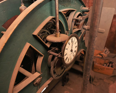 Old Butler County County Court House clock tower clock mechanism.  Seb Foltz/Butler Eagle April 2021
