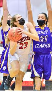 Aslyn Pry Warrior hoop standout has been around basketball all her life. Moniteau High School