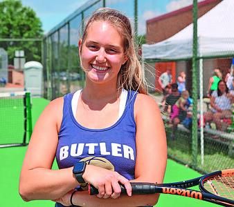 Butler youth tennis coach Lexi Chappel. Seb Foltz/Butler Eagle 07/30/21